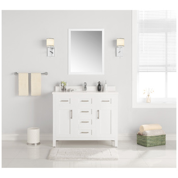 OVE Lakeview 1067mm White Vanity