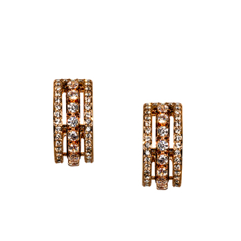 Swarovski Further Pierced Earrings, White, Rose-gold