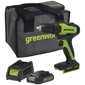 Greenworks 24V Brushless Drill Kit with Battery & Charger