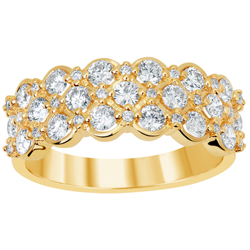 18KT Yellow Gold 1.04ctw Round Brilliant Cut Diamonds Ring