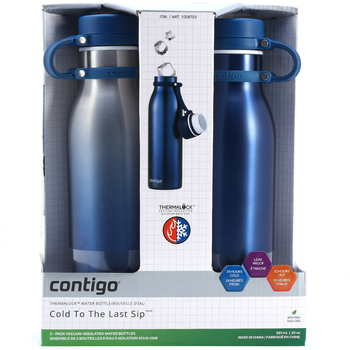 Contigo Thermalock Matterhorn Stainless Steel Water Bottle 2pk