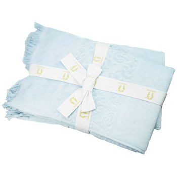 Ramesses Jacquard Velour Cotton Bath Towel 2pk