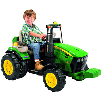 John Deere 12V Ride-On Dual Force Tractor