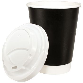 Cafe Express 355ml Double Wall Insulated Cups & Lids 150pk