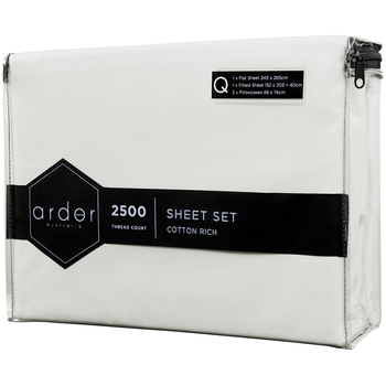 Ardor Queen Cotton Rich 2500TC Sheet Set