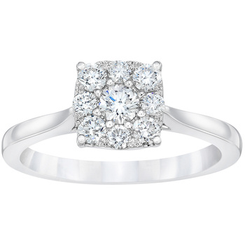 18KT White Gold Round Brilliant Cut 0.50CTW Diamond Ring