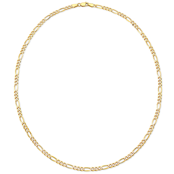 18KT Yellow Gold Figaro Chain Necklace