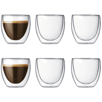 Bodum Pavina Double Wall Glasses 6 x 80ml