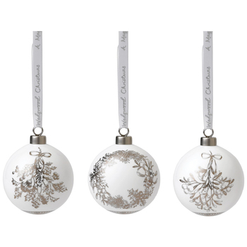 Wedgwood Christmas Baubles 3pk