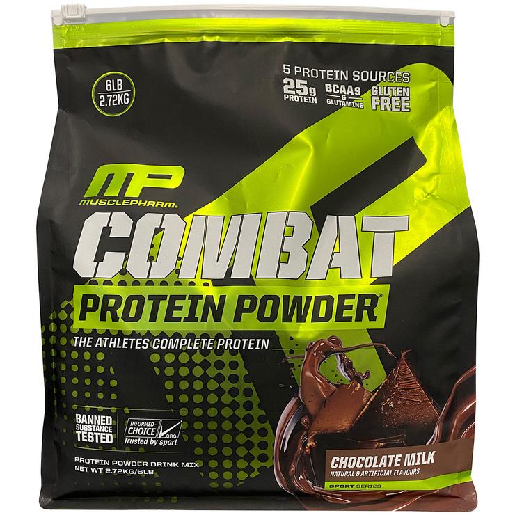 Musclepharm Combat Chocolate Protein Powder 2.72kg Costco Australia