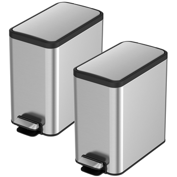 Sensible Eco Living Stainless Steel Pedal Bins 8L 2pk