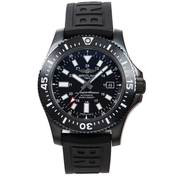 Breitling Superocean 44 Special Black Steel Men's Watch M1739313BE92