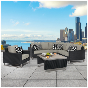 Agio Metro Outdoor Sectional 5pc
