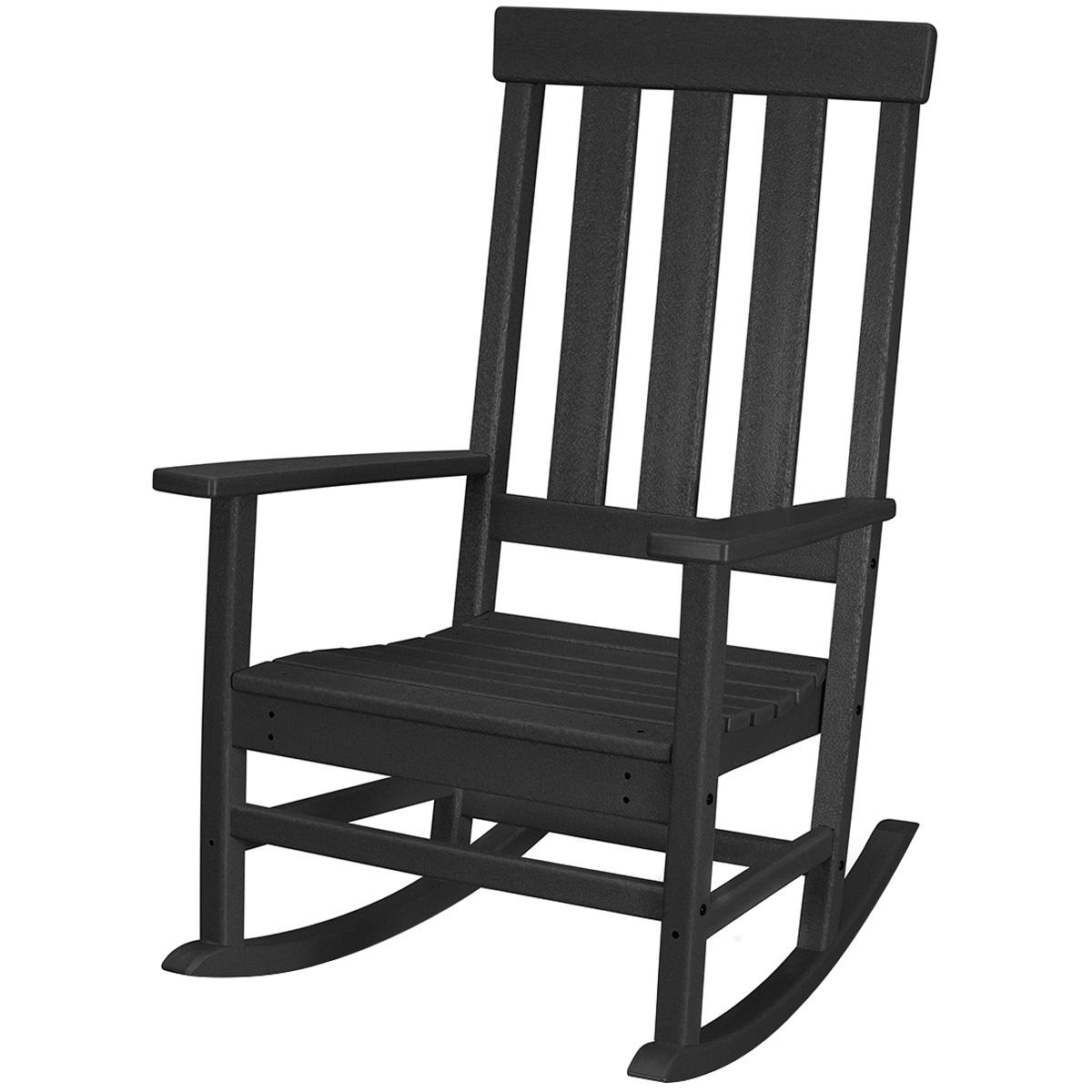 Polywood Prescott Black Porch Rocking Chair Costco Australia