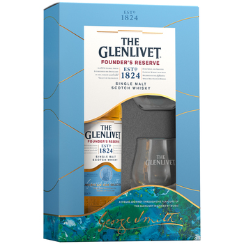 The Glenlivet Founder's Reserve Single Malt Scotch Whisky 700ml + Glasses Gift Pack