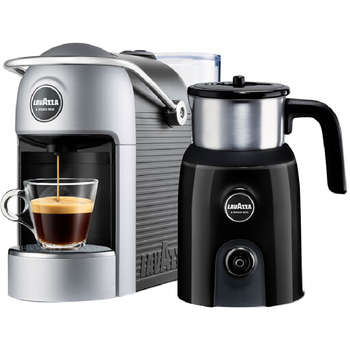 Lavazza Jolie Plus Coffee Machine With Milk Up Frother Grey