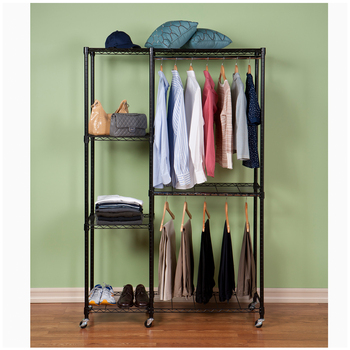 Seville Garment Storage Rack with Cover