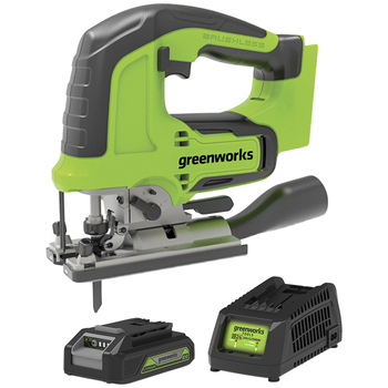 Greenworks 24V Brushless Jigsaw Kit with Battery & Charger