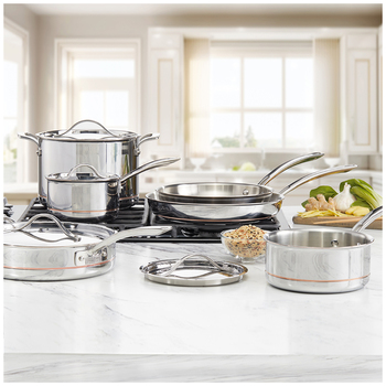 Kirkland Signature 10pc Stainless Steel Cookware Set