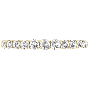 18KT Yellow Gold Round Brilliant Cut 0.45CTW Diamond Ring