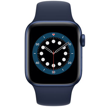 Apple Watch Series 6 (GPS) 40mm Blue Aluminium Case with Deep Navy Sport Band MG143X/A