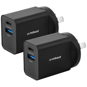 mbeat Gorilla Dual Port Charger 2pk