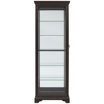 Pulaski 79 Inch Curio Display Cabinet with Sliding Doors
