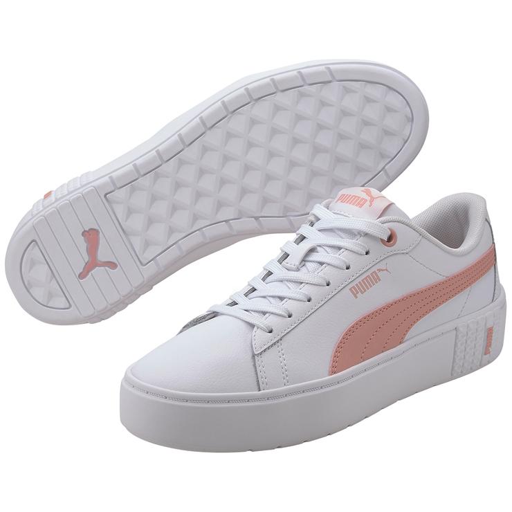 puma white platform shoes