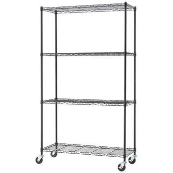 TRINITY Basics 4 Tier Shelving Rack Black
