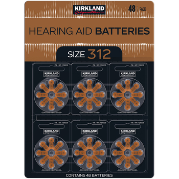 Kirkland Signature Hearing Aid Batteries Size 312 2x48 pack