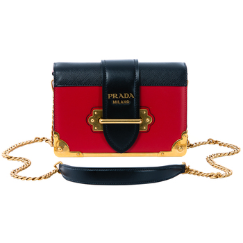 Prada Cahier Mini Crossbody Bag Red & Black
