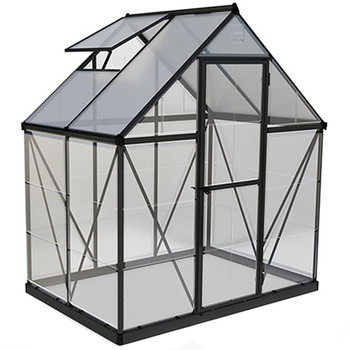 Palram Hybrid Greenhouse 182.9 x 121.9 cm with Dark Grey Frame