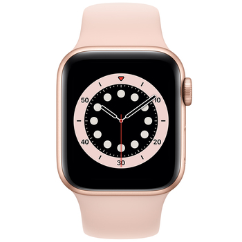 Apple Watch Series 6 (GPS) 40mm Gold Aluminium Case with Pink Sand Sport Band MG123X/A