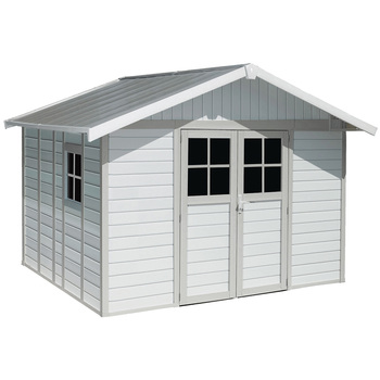 Grosfillex Deco Shed White, Green & Grey 11m<sup>2</sup>