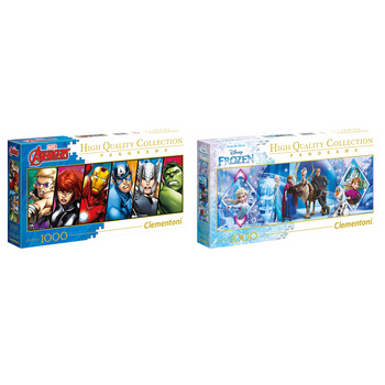 Clementoni Marvel & Frozen 1000pc Puzzle 2pk