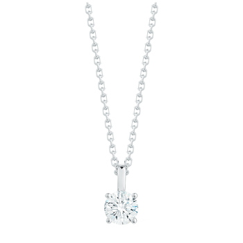 Round Brilliant 0.50ctw 18KT White Gold Diamond Solitaire Pendant
