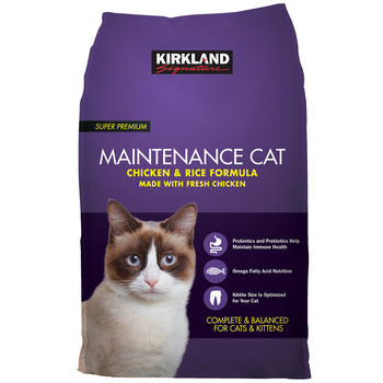Kirkland Signature Super Premium Maintenance Chicken & Rice Formula Cat Food 11.34kg