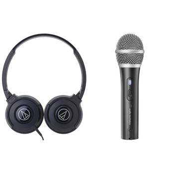 Audio-technica Headphone + USB Microphone Bundle ATR2100X/ATH-S100