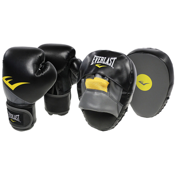 Everlast Advanced Gloves and Mitts Combo