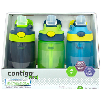 Contigo Kids' Gizmo Water Bottles 3 x 414ml