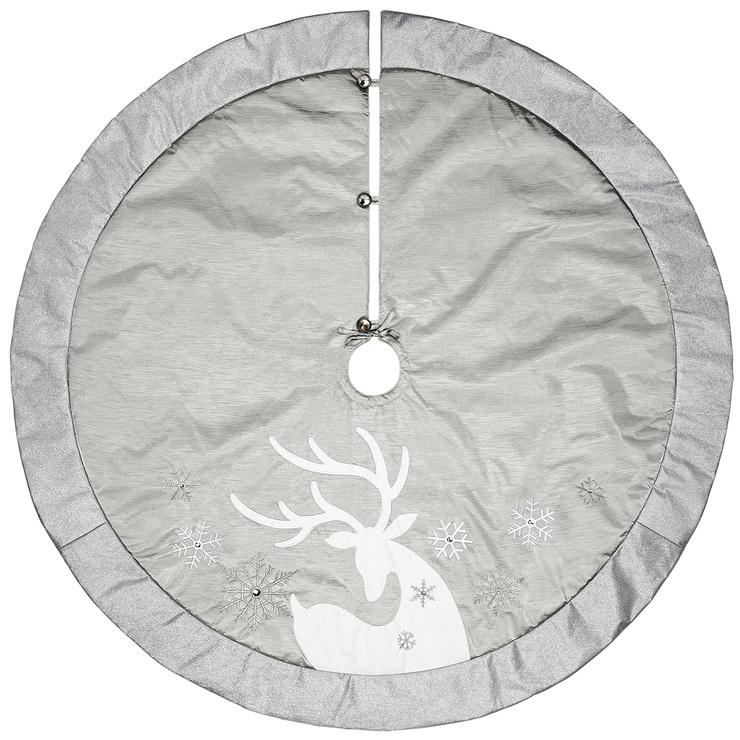 Christmas Tree Skirt 167 64cm Silver Deer Costco Australia,Tuscany Decorating Ideas