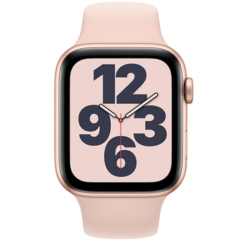Apple Watch SE (GPS) 44mm Gold Aluminium Case with Pink Sand Sport Band MYDR2X/A