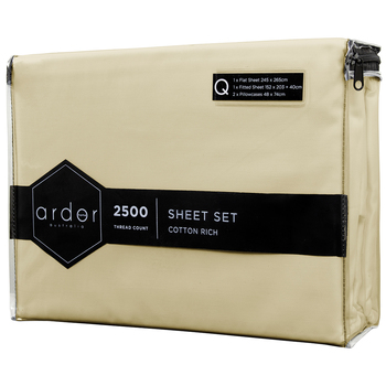 Ardor 2500 TC Cotton Rich Sheet Sets King Bed