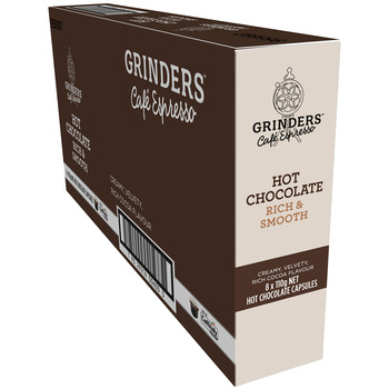 Grinders Caffitaly Hot Chocolate Capsules 8 x 110g