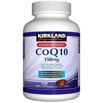 Kirkland Signature CoQ10 150mg ,150 Softgel Capsule