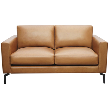 Moran Toronto 2 Seater Brown Leather Sofa
