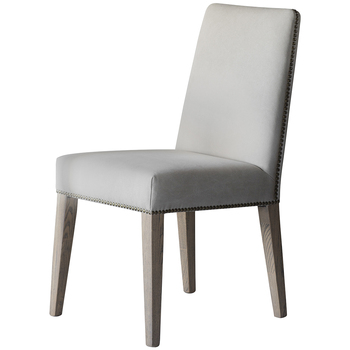 Hudson Living Rex Dining Chairs Cement Linen 2pc