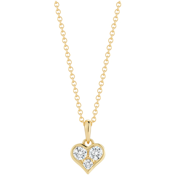 18KT Yellow Gold Heart Shape 0.34ctw Diamond Pendant