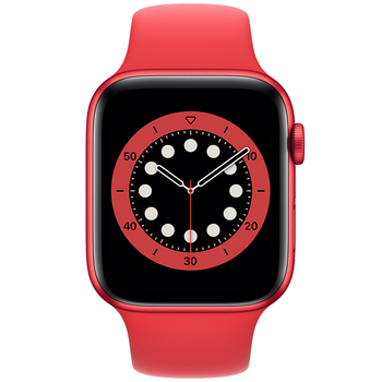 Apple Watch Series 6 (GPS) 40mm Red Aluminium Case with Red Sport Band M00A3X/A