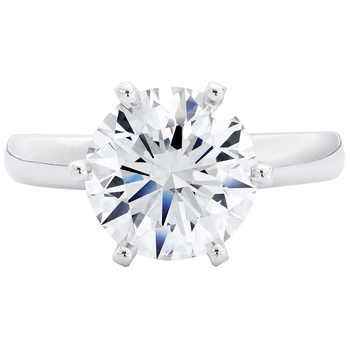 Round Brilliant Cut 3.00ctw Diamond Platinum Solitaire Ring